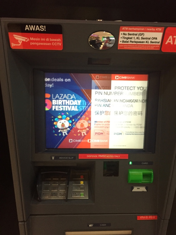 The ATM that retained A's card